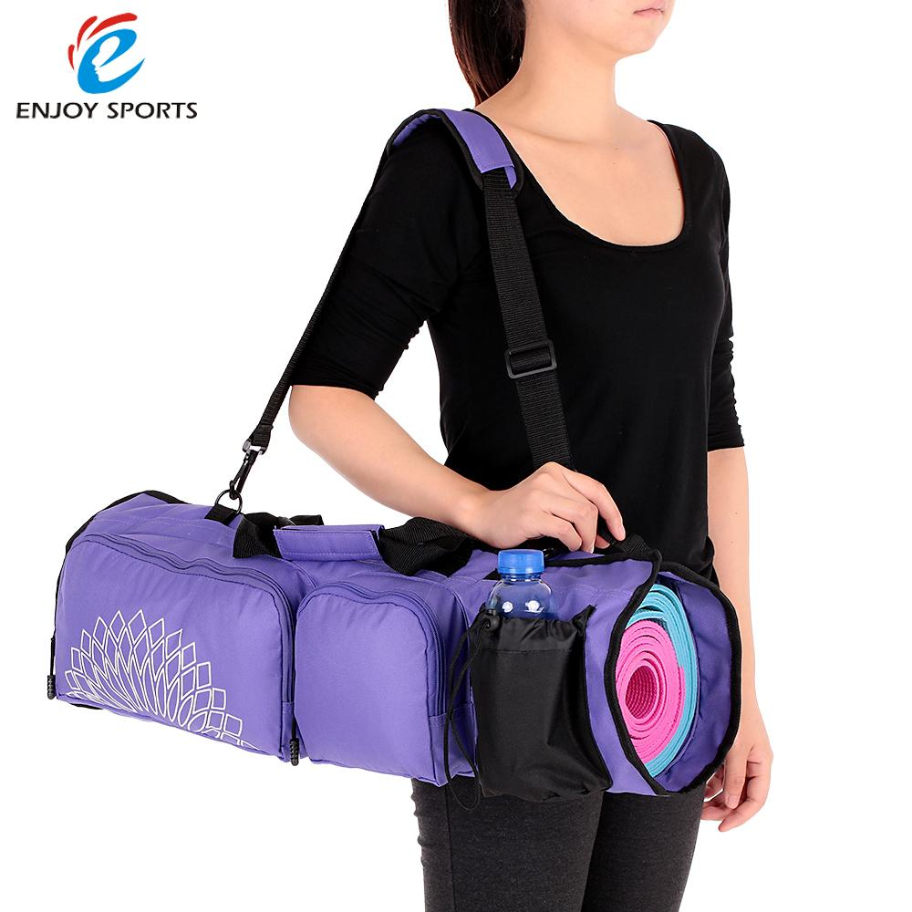 Yoga Mat Bag with Open Ends Mobile Pocket Water Bottle Carrying Storage Bag