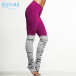 New Sports Thin Elastic Rib Patchwork Yoga Pants Elastic Leggings