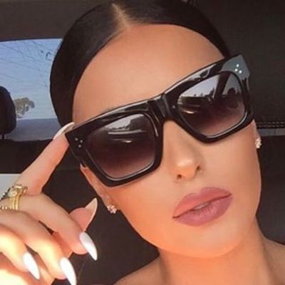 Luxury Brand Designer Flat Top Sunglasses 7 styles