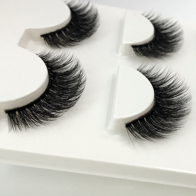 3 Pairs Natural 3D Mink Lashes
