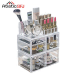 Clear Acrylic Cosmetic Organizer Box Makeup Storage Drawer Desk Bathroom Makeup Brush Lipstick Holder