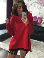 Scarf Collar Long Sleeve Fashion Casual Sweatshirt
