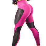 Women High Waist Sexy Patchwork Breathable Fitness Leggings
