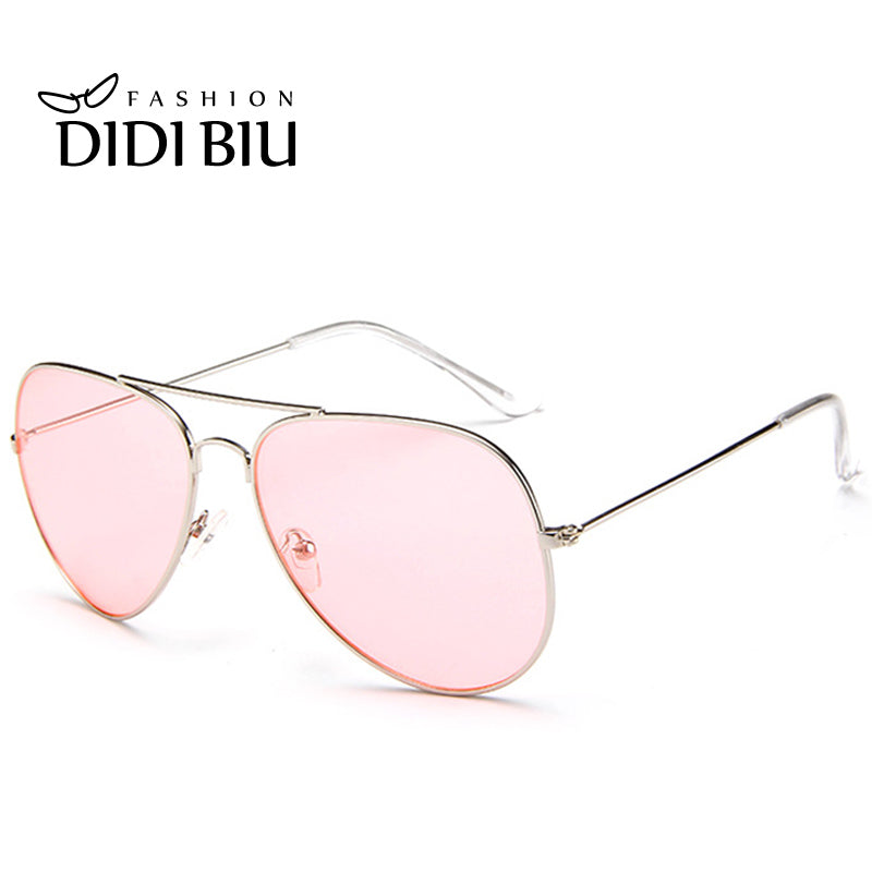 DIDI Aviator Clear Pink Sunglasses 6 Candy Colors