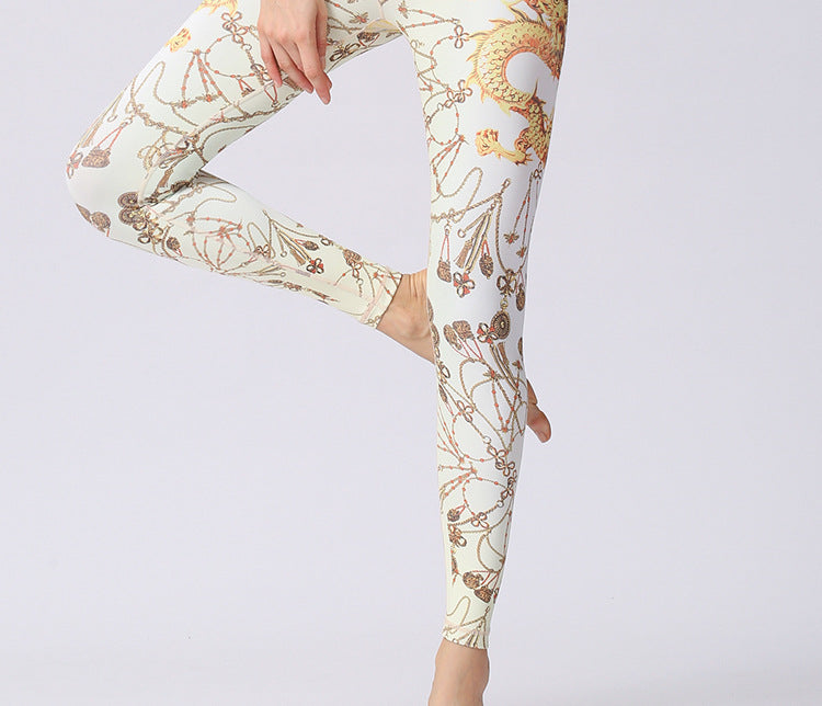 Women's Stretch Printed Yoga Sports Leggings YH33
