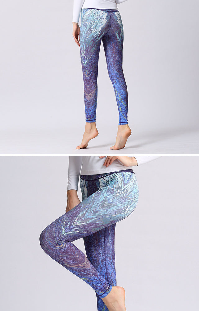Women's Stretch Printed Yoga Sports Leggings YH40