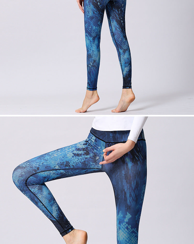 Women's Stretch Printed Yoga Sports Leggings YH43