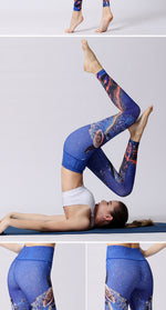 Women's Stretch Printed Yoga Sports Leggings YH31
