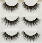 3 pairs /set 3D Cross Thick Natural Professional Full Strip Eye Lashes