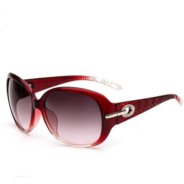 Luxury Driving Ladies Sunglasses color/red