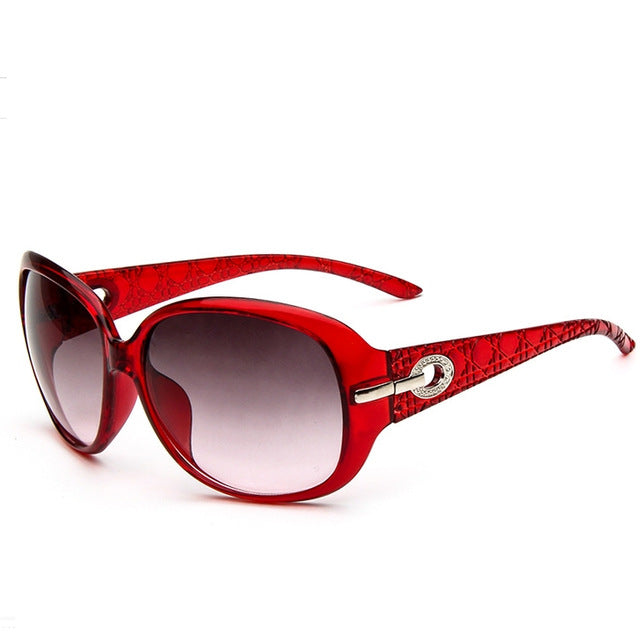 Luxury Driving Ladies Sunglasses color/wine red