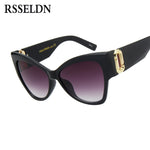 Vintage Fashion Sexy Cat Eye Sunglasses Glass UV400