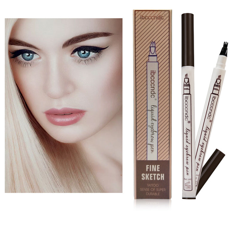 3 Colors Microblading Eyebrow Waterproof Tattoo Durable Eye Brow Smudge-proof Pen