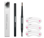 Brainbow Eyebrow Pencil With Brush Eyeliner + 3 Eyebrow Shape Stencils Kit