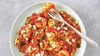 Shrimp Saganaki (Shrimp with Feta Cheese in a Savory Tomato Sauce)