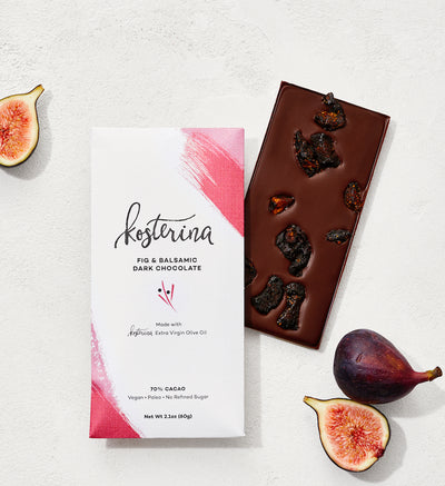 Fig & Balsamic EVOO Dark Chocolate (6 bars)