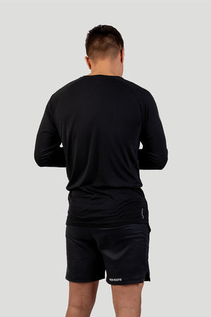 Iron Roots Men's Eucalyptus Performance Longsleeve T-Shirt - Black (Back)