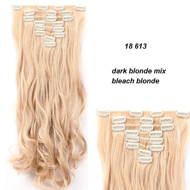 18 Inches 8 Pieceset Full Head Clip In Thick Hair Extensions 18
