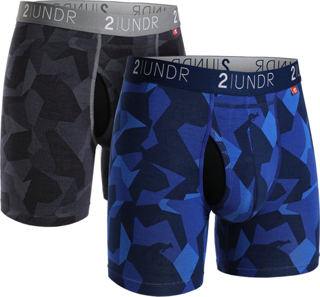 "2UNDR Swing Shift - 6"" Boxer Brief 2-Pack - Black Camo 