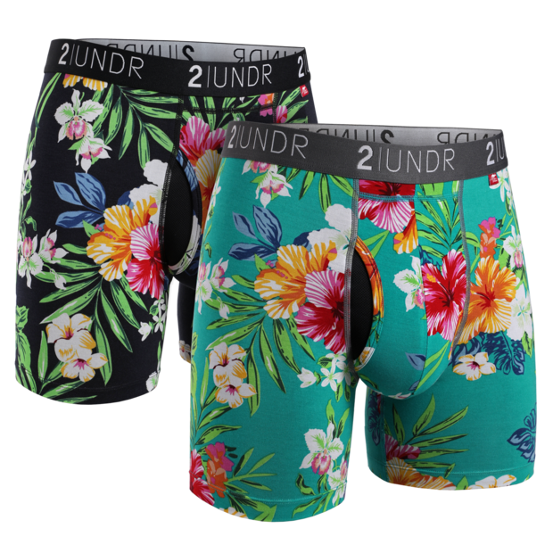 "2UNDR Swing Shift - 6"" Boxer Brief 2-Pack - Kona 