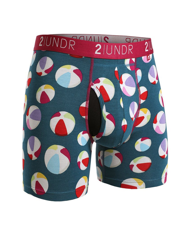 "2UNDR Swing Shift - Beach Balls - 6"" Boxer Brief"