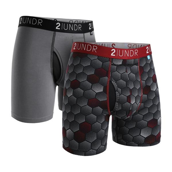 "2UNDR Swing Shift - 6"" Boxer Brief 2-Pack - Grey 
