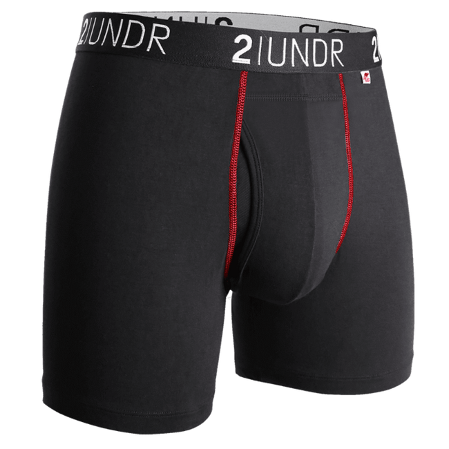 "2UNDR Swing Shift - Black/Red - 6"" Boxer Brief"