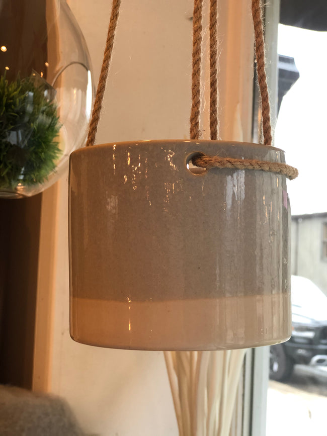 Hanging Pot Light Blue