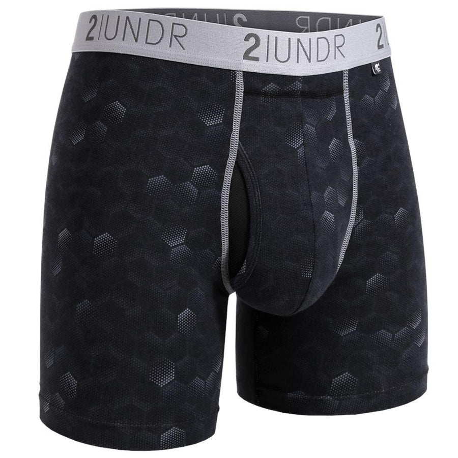 "2UNDR Swing Shift - Hexadot - 6"" Boxer Brief"