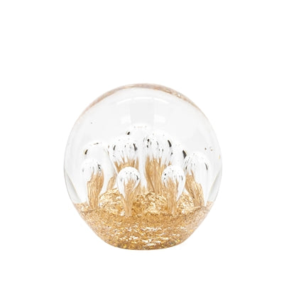 Glitter Glass Ball Paperweight Decor - Large Bubble
