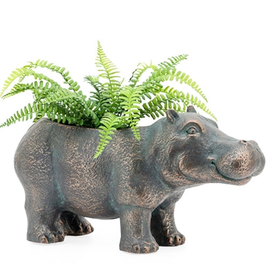 Happy Hippo Garden Drop Pot