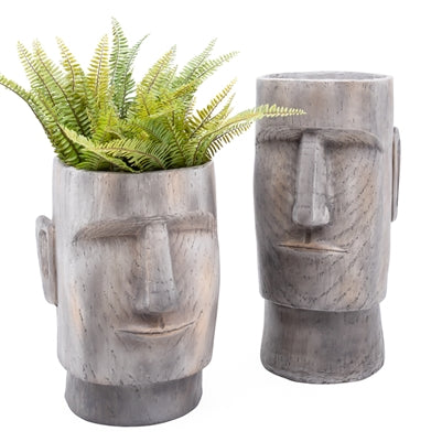 Lithic Island Face Planter - 18 Inch Height