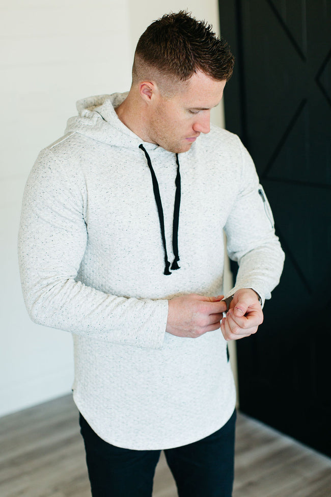 Iconic Hoodie - Quilted Natural