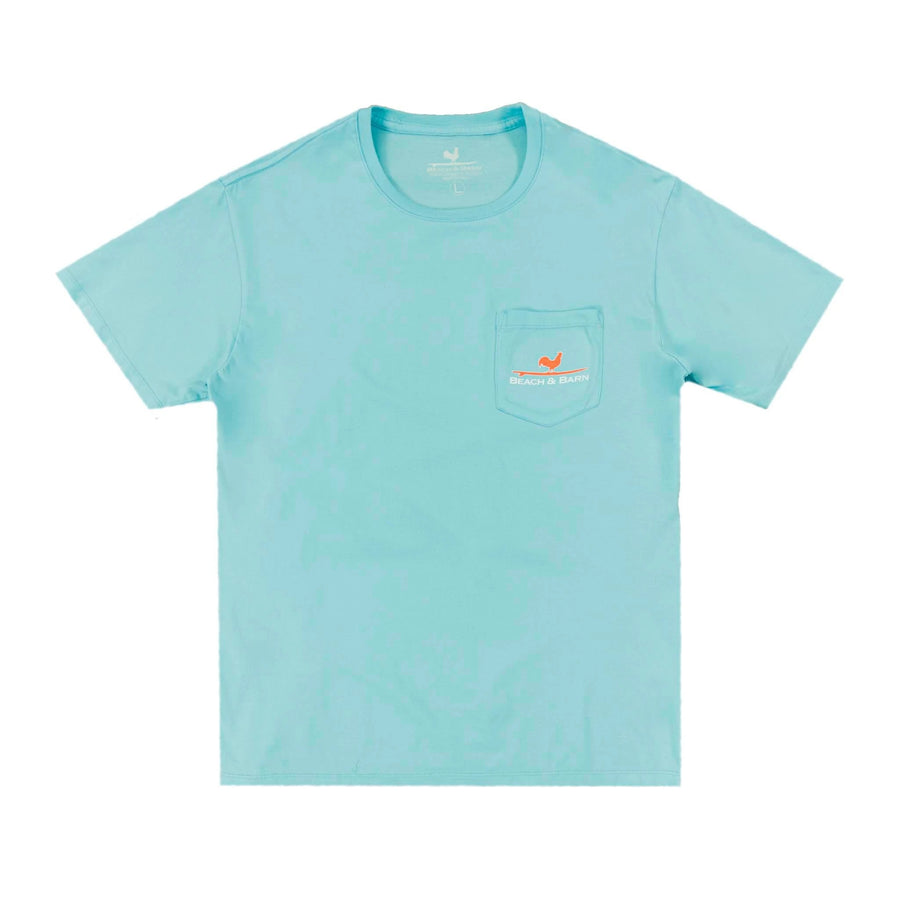 Beach & Bark Pocket Tee - Aqua