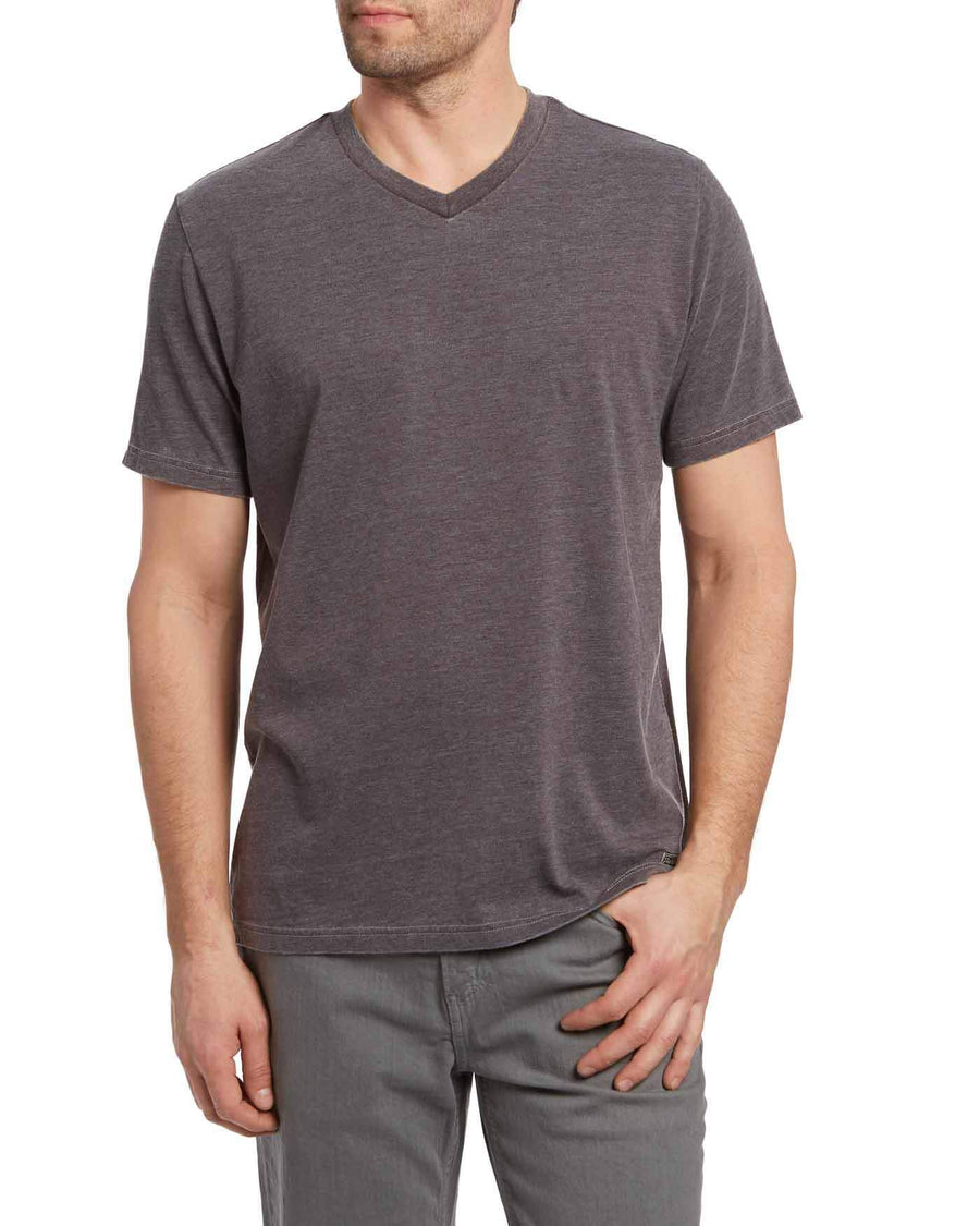Kinston Grey Burnout Short Sleeve Tee