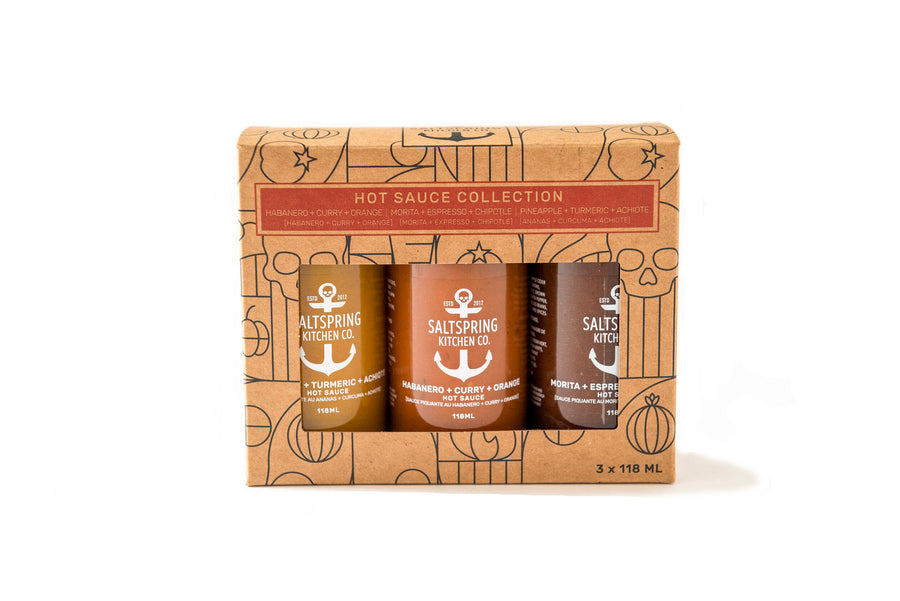Saltspring Kitchen - Hot Sauce Trio Collection Gift Box