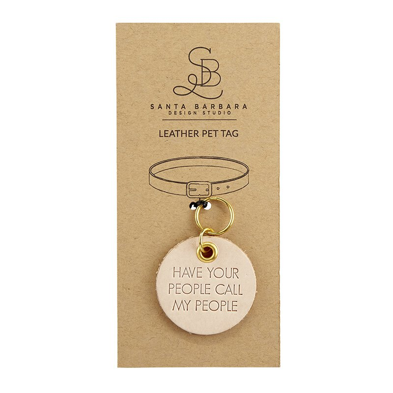 Call My People - Leather Pet Tag