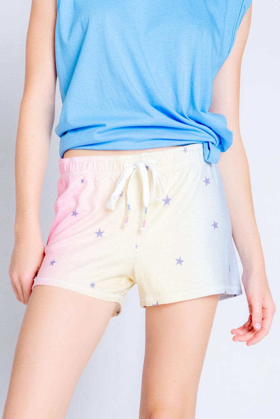 Peachy Party Stars - Shorts