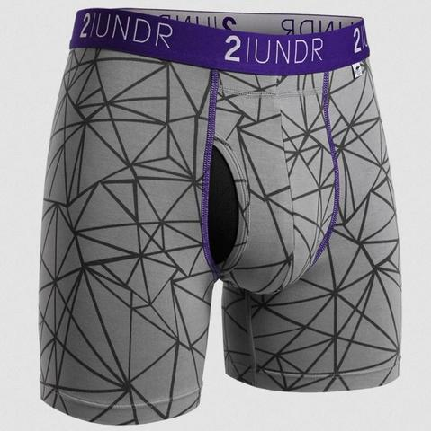 "2UNDR Swing Shift - Star Track - 6"" Boxer Brief"