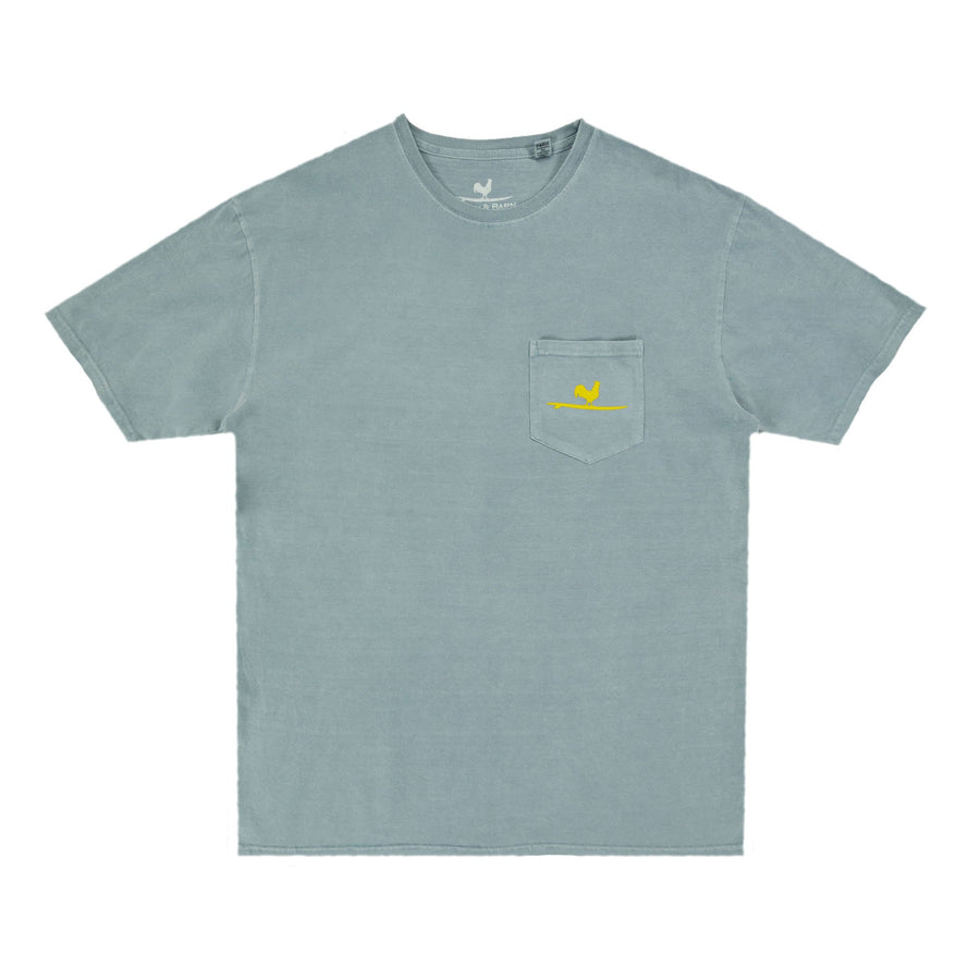 Speechless Pocket Tee - Steel Grey