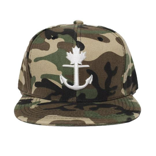 Classic Camo Anchor Snapback Hat