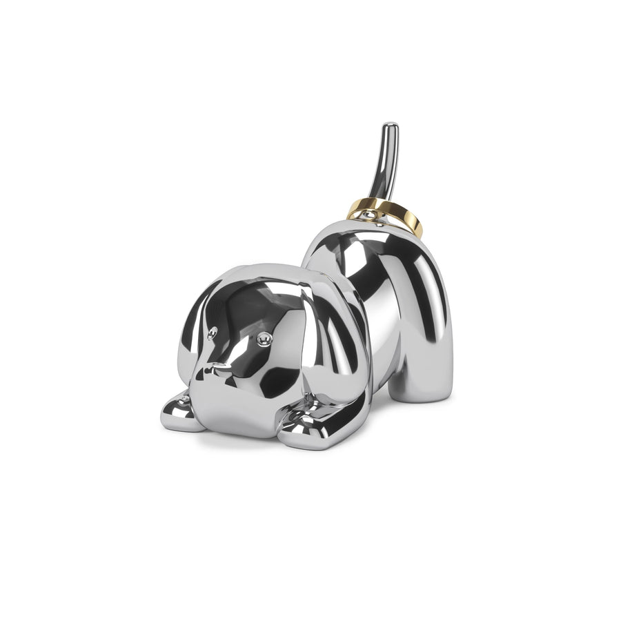 ZOOLA PUPPY RING HOLDER CHROME