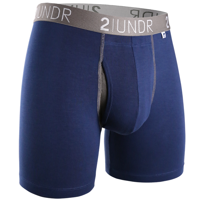 "2UNDR Swing Shift - Navy-Grey- 6"" Boxer Brief"