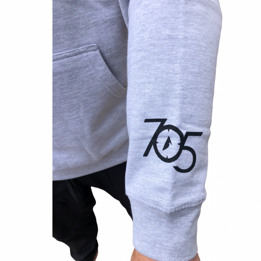 705 Hooded Pullover Sweater - Grey Heather