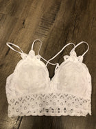 Bralette Top - White Lace Bra