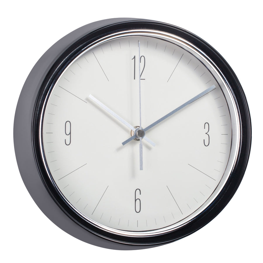 "904033B Oliver 9D"" Retro Black Wall Clock"