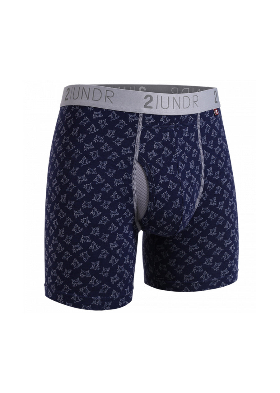 "2UNDR Swing Shift - Sharks - 6"" Boxer Brief"