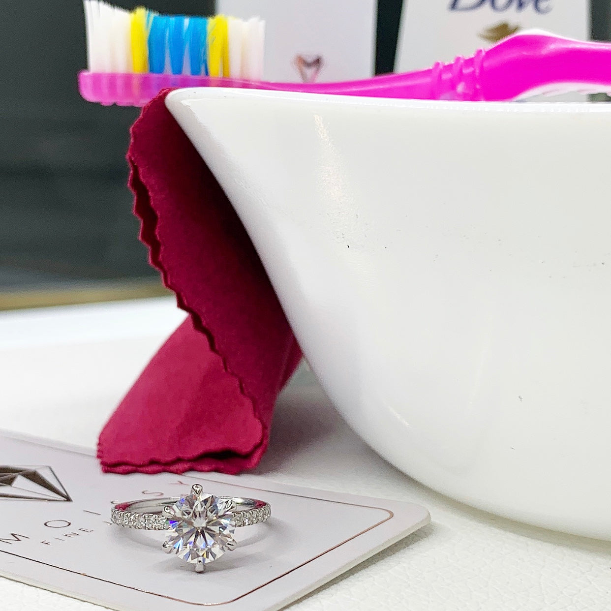 How Will My Moissanite Hold Up To Frequent Hand-washing And Sanitizing