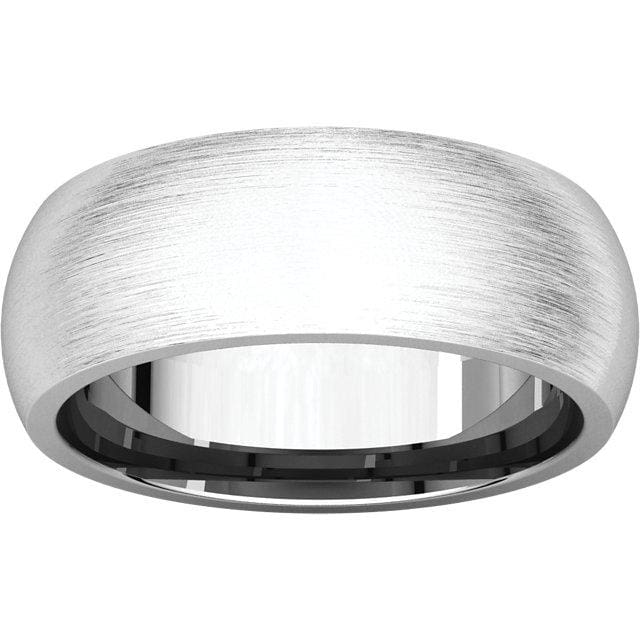 14K White Gold Mens Band Comfort Fit - Mens Rings