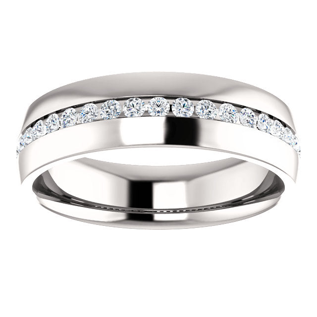 MWBM0131 - Men's Eternity Moissanite Band